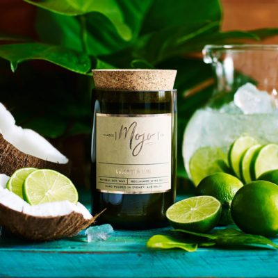 Mojo Candle Coconut Lime Wine Bottle