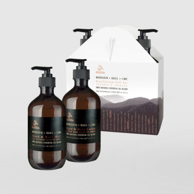 Urban Rituelle Mandarain Basil Lime Hand and Body Wash Gift Set