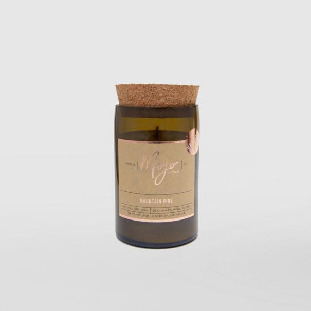 Mojo Candle Mountain Pine Reclaimed-Wine-Bottle