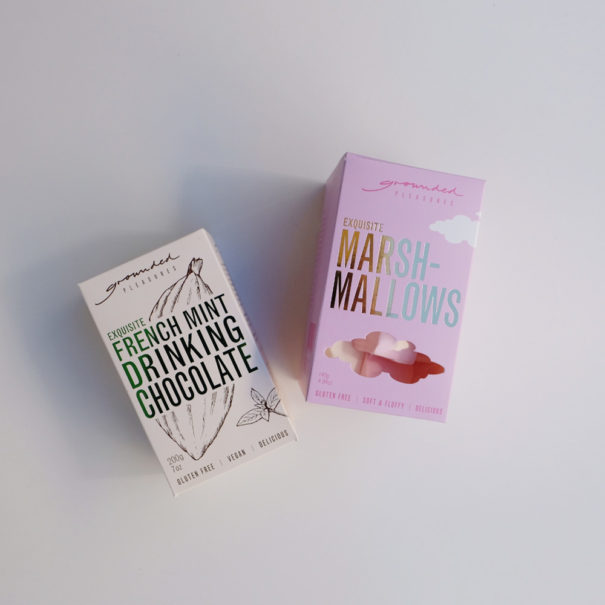 Grounded Pleasures French Mint Drinking Chocolate and Marshmallow Set
