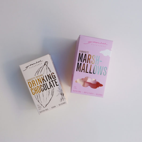 Grounded Pleasures Original Drinking Chocolate and Marshmallows Set