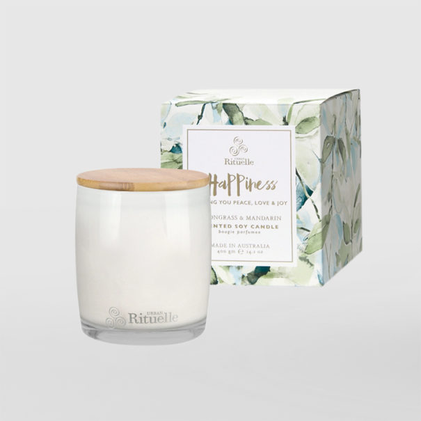 Urban Rituelle Happiness Lemongrass and Mandarin Soy Candle